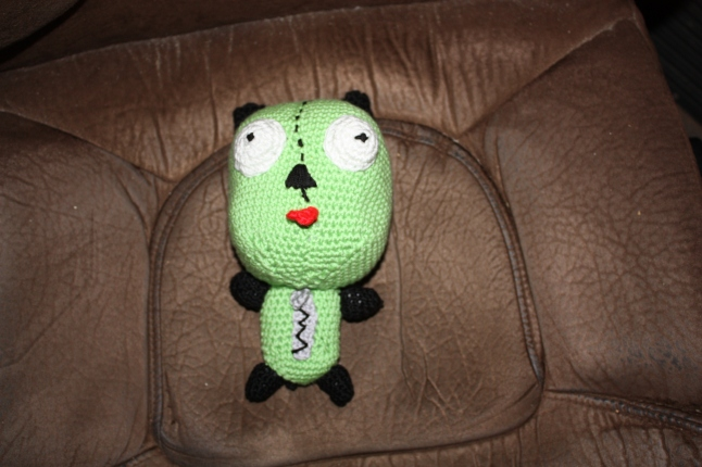 Gir in his dog suit.