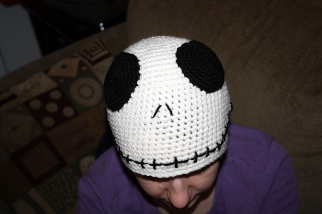 Jack Skellington hat for DD3 who loves all things Tim Burton.
